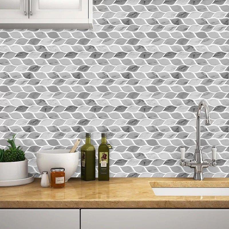 Pin By Anissia Belfon Joseph On Home Remodelling In 2020 Stick Tile Backsplash Mosaic Wall Tiles Stick On Tiles