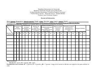 Ejemplo De Lista De Cotejo Y Escala De Estimación Rubrica De Evaluacion Evaluación Primaria Ejercicios Matematicas 5 Primaria
