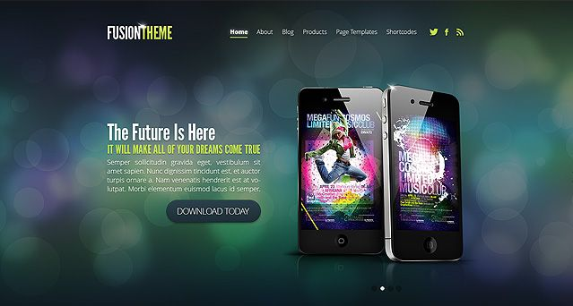 Fusion is a sleek and flashy theme that melds fun and ...