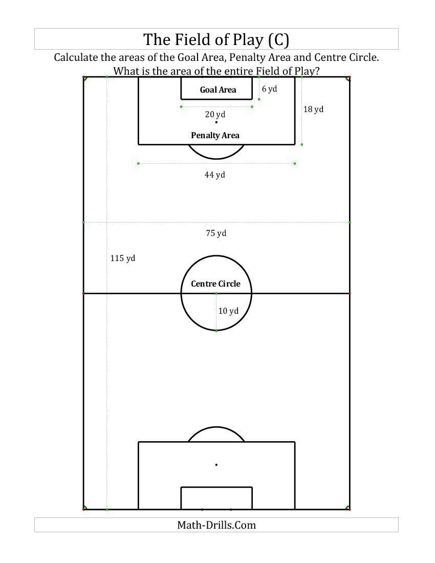 World Cup Of Soccer Math The Field Of Play C Math Interactive Notebook Math Teaching Geometry [ 1100 x 850 Pixel ]