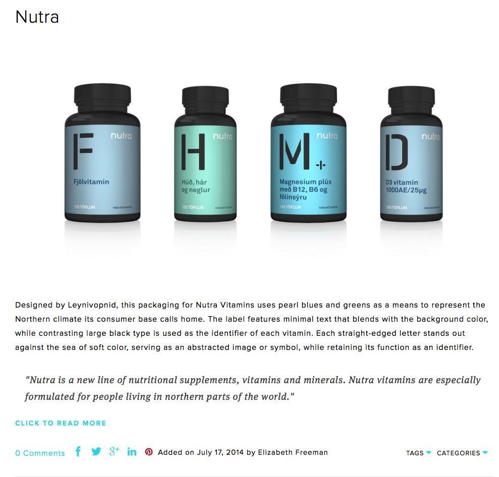 Colour / type treatment