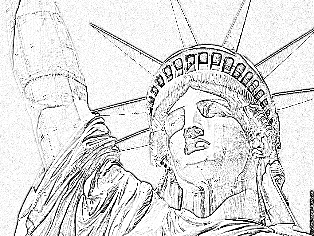 imprimer coloriage statue de la liberte 20080623 visiter le monde pinterest la libert. Black Bedroom Furniture Sets. Home Design Ideas