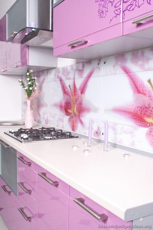 Modern Pink Kitchen Cabinets 02 Kitchen Design Ideas Org Elegant Kitchens Pink Kitchen Kitchen Cabinet Design