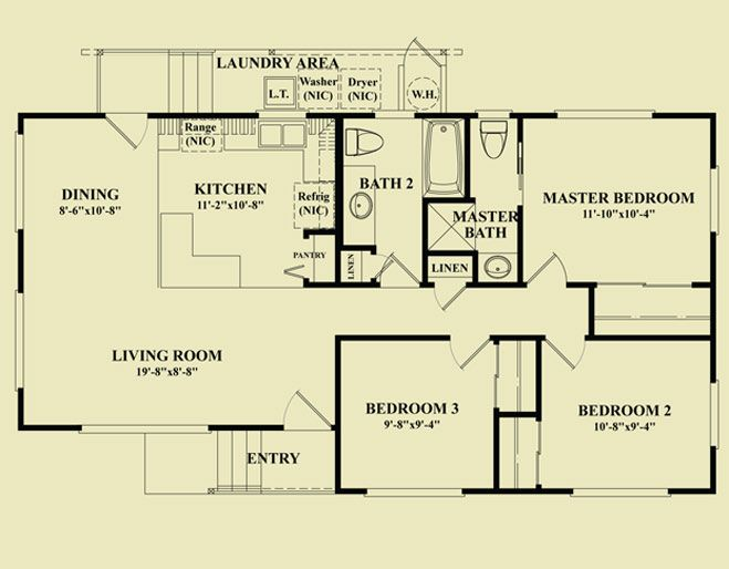 17 Best images about 3 bedroom plans on PinterestHilo hawaii. 3 bedroom 3 bathroom house plans
