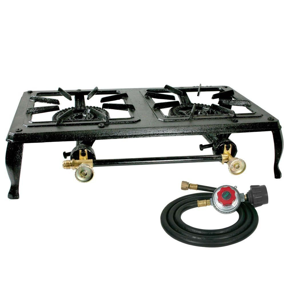 gas stove camping. Brilliant Stove Sportsman Cast Iron Double Burner Propane Gas Stove With Camping