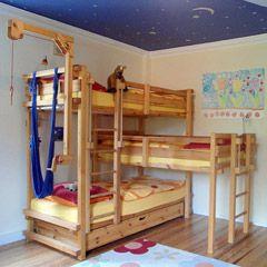 Vierer-Bett-über-Eck: Bild 12.2   Kinder zimmer, Hochbett 3 ...