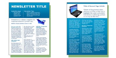 Free templates form Microsoft Word including newsletter templates – Newsletter Templates Free Word