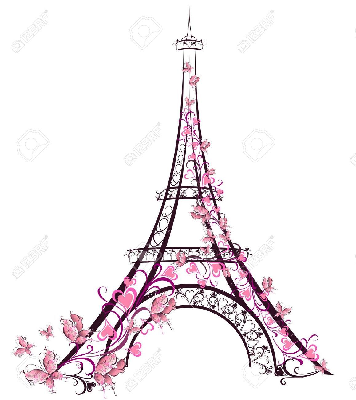 10 139 eiffel tower stock vector illustration and royalty free painted glasses pinterest. Black Bedroom Furniture Sets. Home Design Ideas