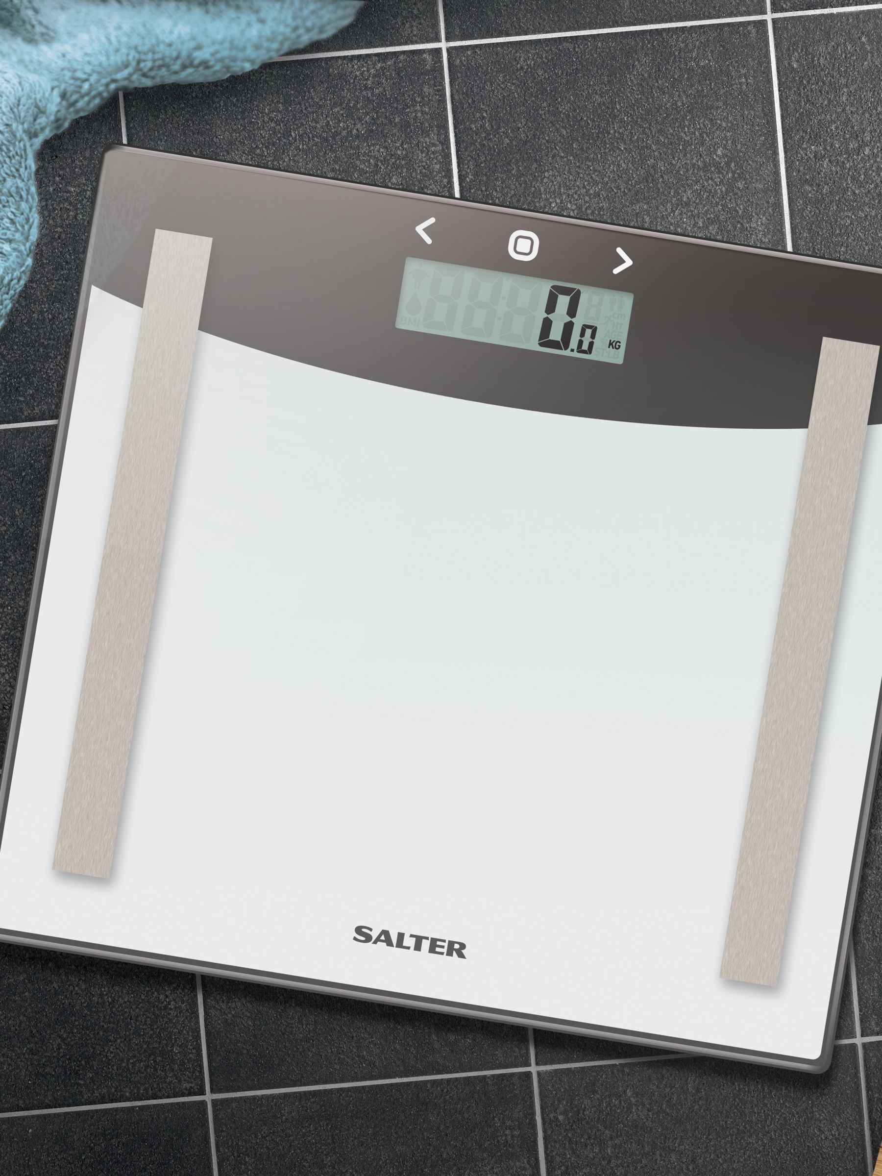 Salter Glass Body Analyser Bathroom Scale Scale Glass Simple Designs