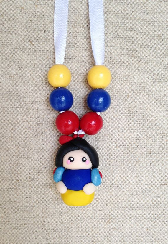 Princess Snow White Charm Necklace by CabbagesforKings on Etsy