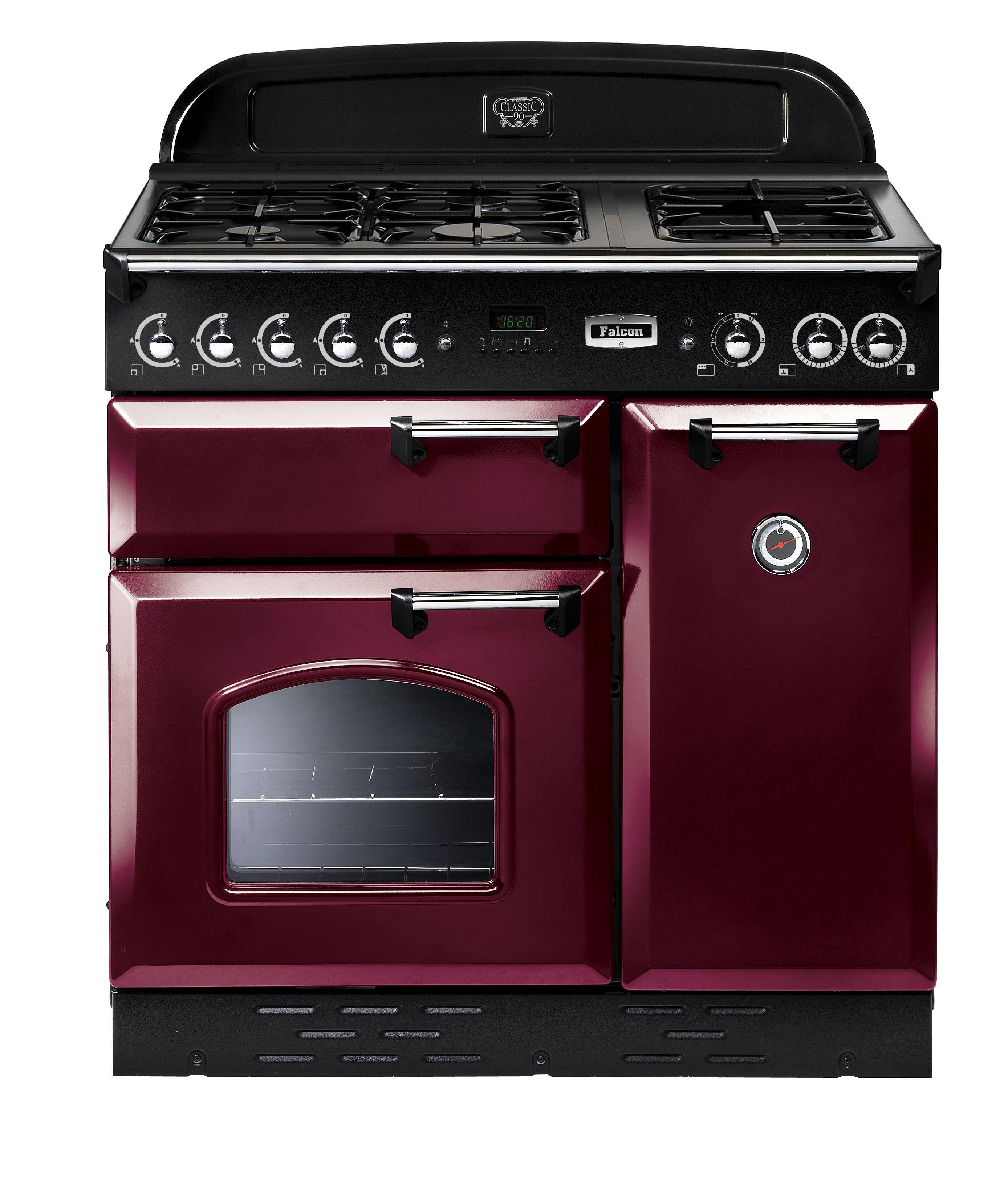 CLASSIC 90CM UPRIGHT COOKER Cranberry #falcon #falconaustralia #kitchen #oven #design #kitcheninspo #dualfuel #berry
