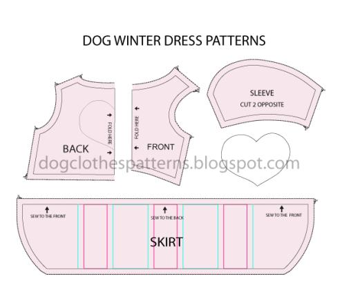 dog coat template - dog dress pattern dog stuff pinterest dog dresses