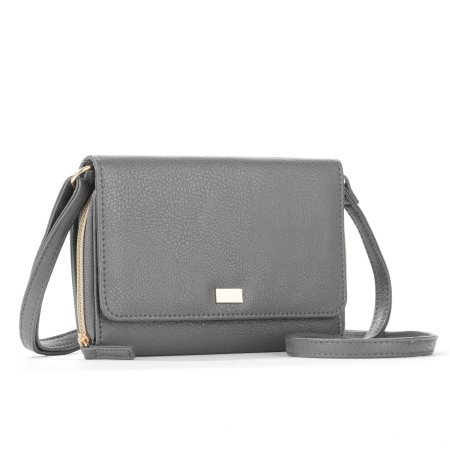 7c7c4df7cc0bd9 Time and Tru Fallon Flap Wallet on a String, Gray   Products   Cross ...