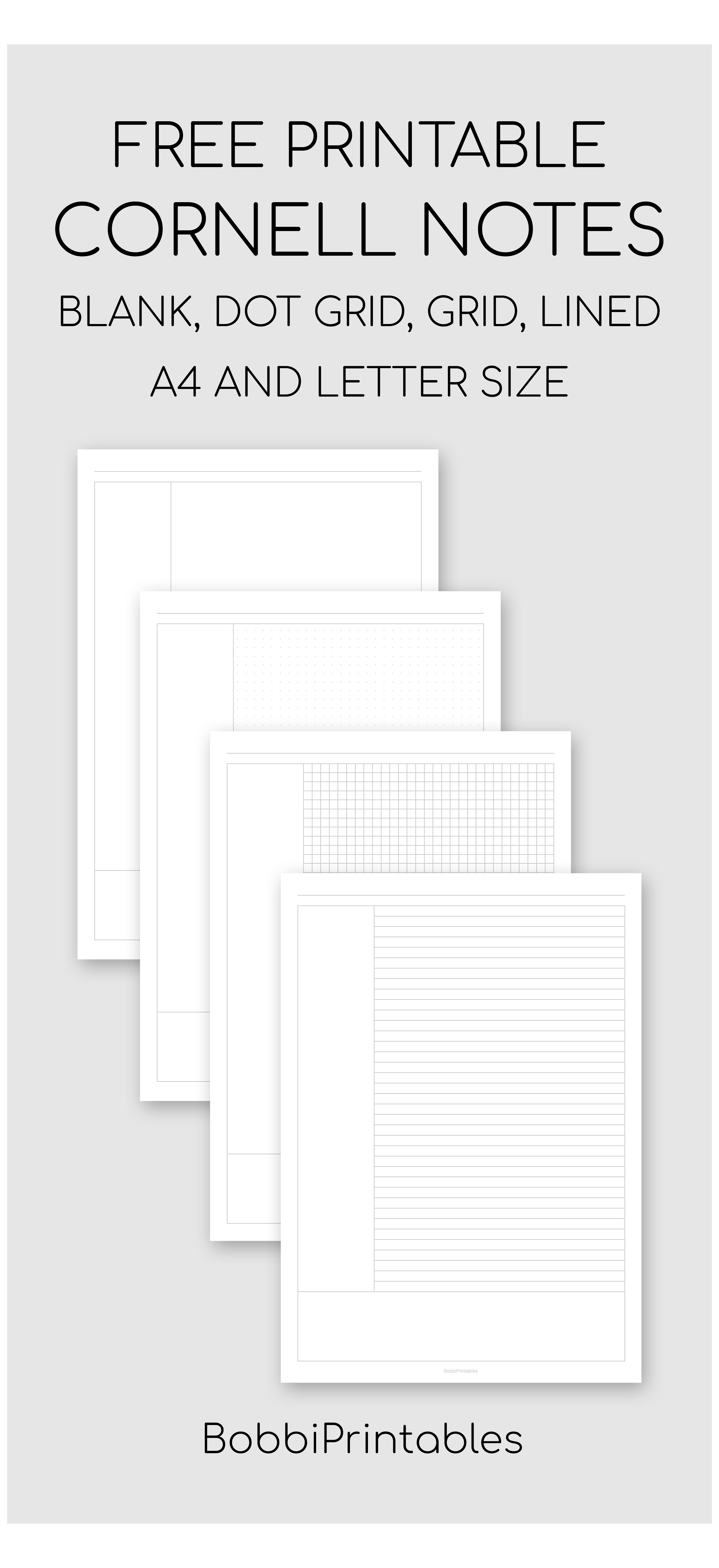 Printable Cornell Notes Template Notes Template