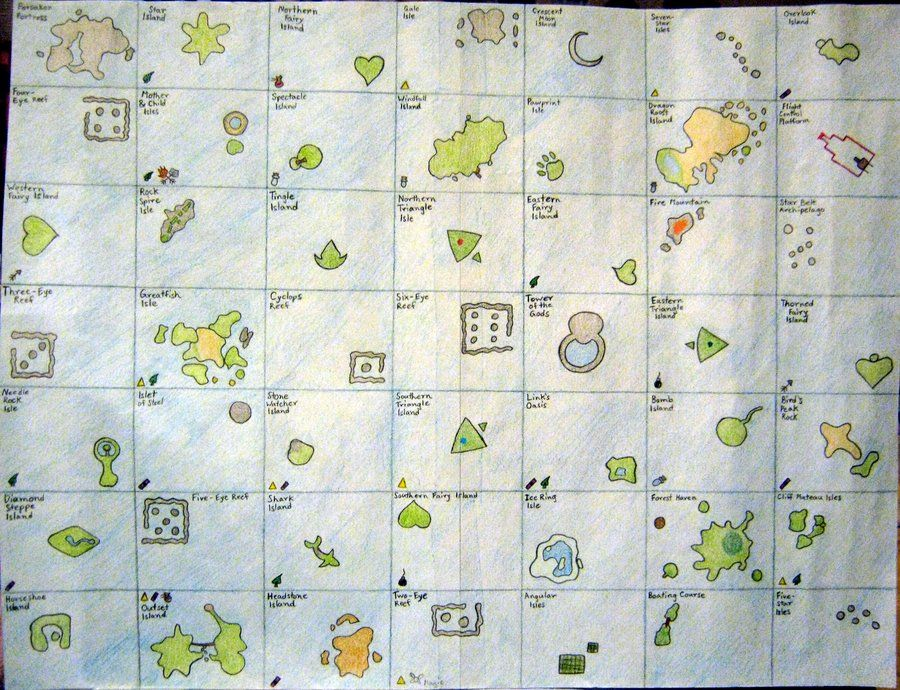 Zelda Wind Waker Map by YoshisGhost | Pirates and Demons | Pinterest
