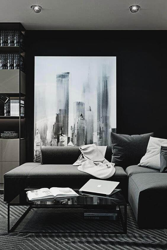 36 Bachelor Pad Apartment Suggestions Every Bachelor Needs To See Contemporary Living Room Design Dark Living Rooms Masculine Living Rooms
