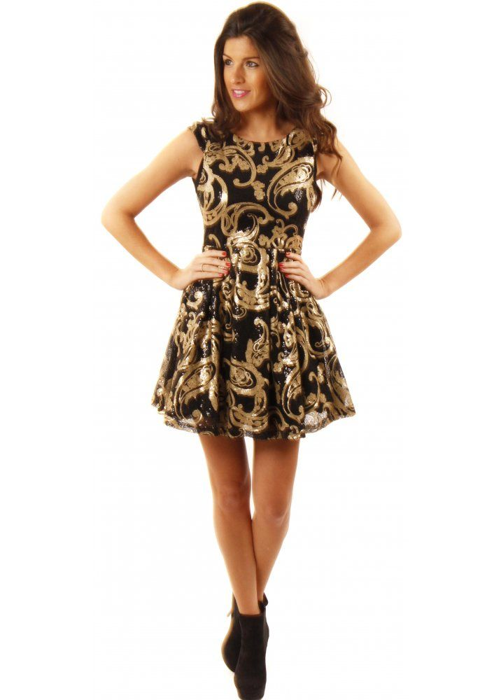 Images of Black And Gold Dresses - The Fashions Of Paradise