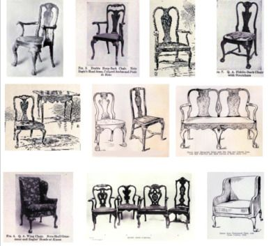 Chapter 10 Stick Style Queen Anne  Queen Anne side chairsThis chart was originally published in 1907 on the february issue  . Antique Queen Anne Upholstered Chairs. Home Design Ideas