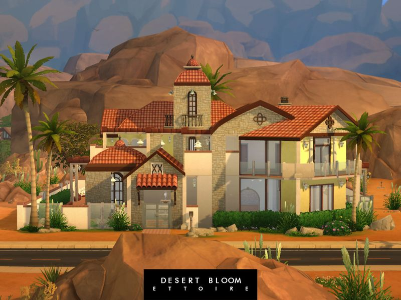 Beautifully built mansion for your sims! It has 22 rooms in total, all of them are emply. But it is designed to have 6 bedrooms, 4 bathrooms, 2 dining rooms, 2 living rooms, one kitchen and one big...