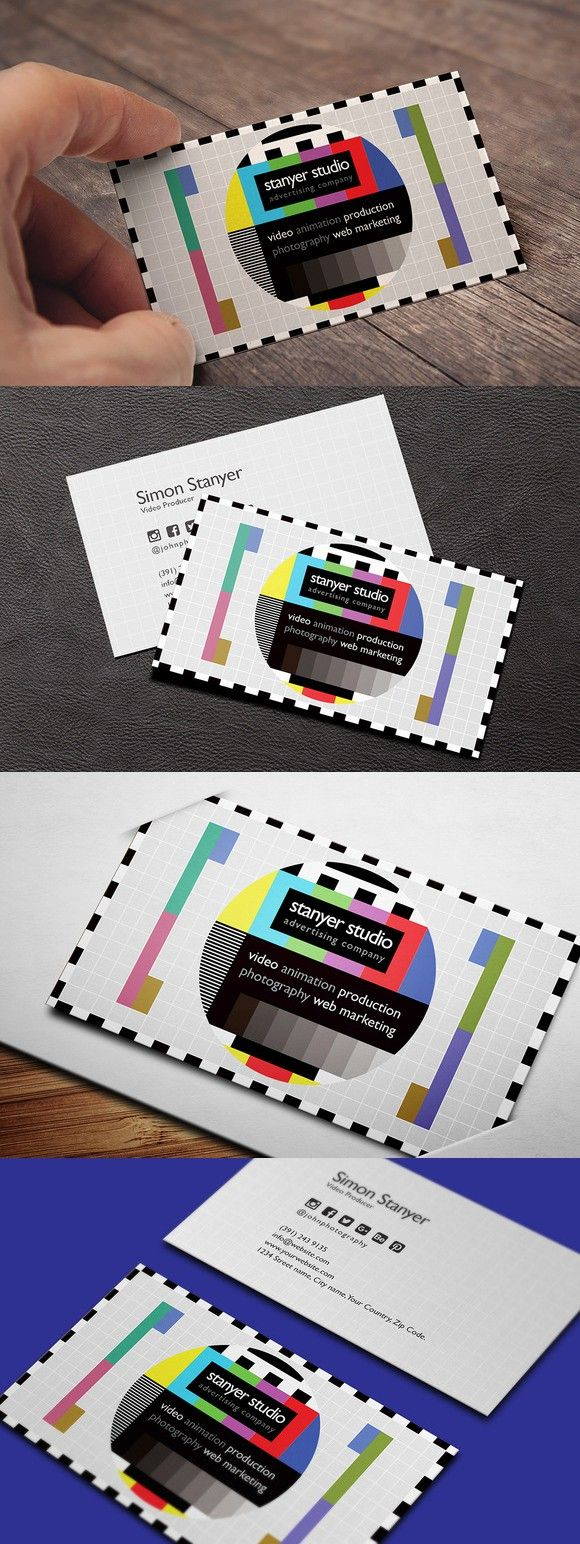 Video Producer Business Card Business Cards Creative Templates Sophisticated Business Card Business Cards Creative