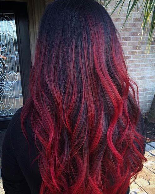 31 besten roten Ombre Haarfarbe Ideen | Seite 3 von 3 | StayGlam #ombrehair