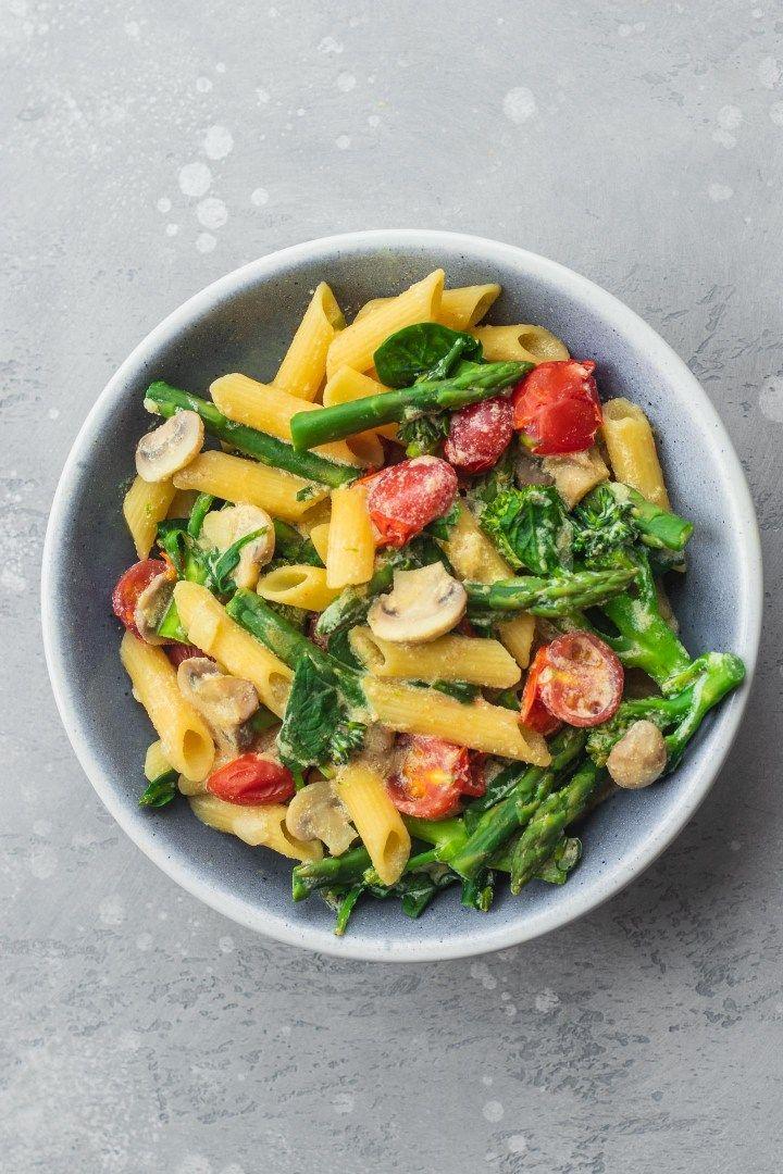 Creamy tofu pasta vegan glutenfree oilfree earth
