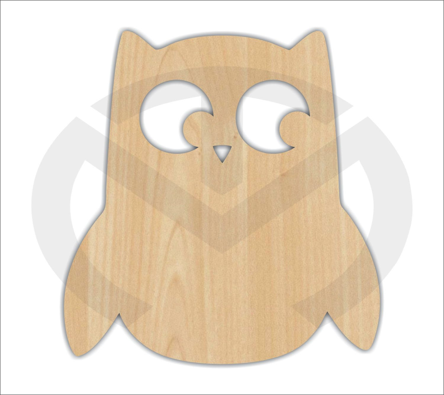 Unfinished Wood Owl With Face Cut Out Laser Cutout Wreath Accent Door Hanger  Ready To Paint U0026 Personalize Various Sizes (smaller)