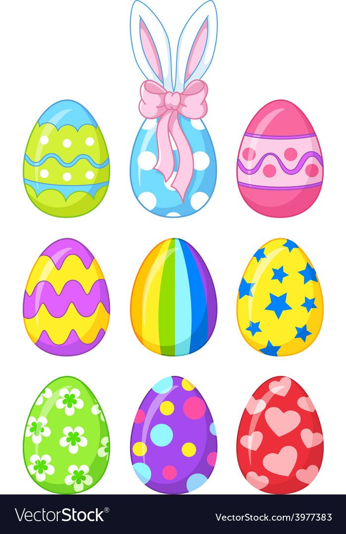 Easter eggs vector image on VectorStock