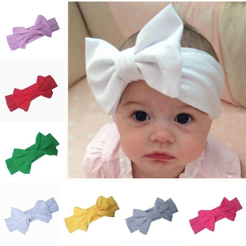 Cute Baby Headband Flowers Bows Girl Newborn Elastic Baby Hair Band Turban New
