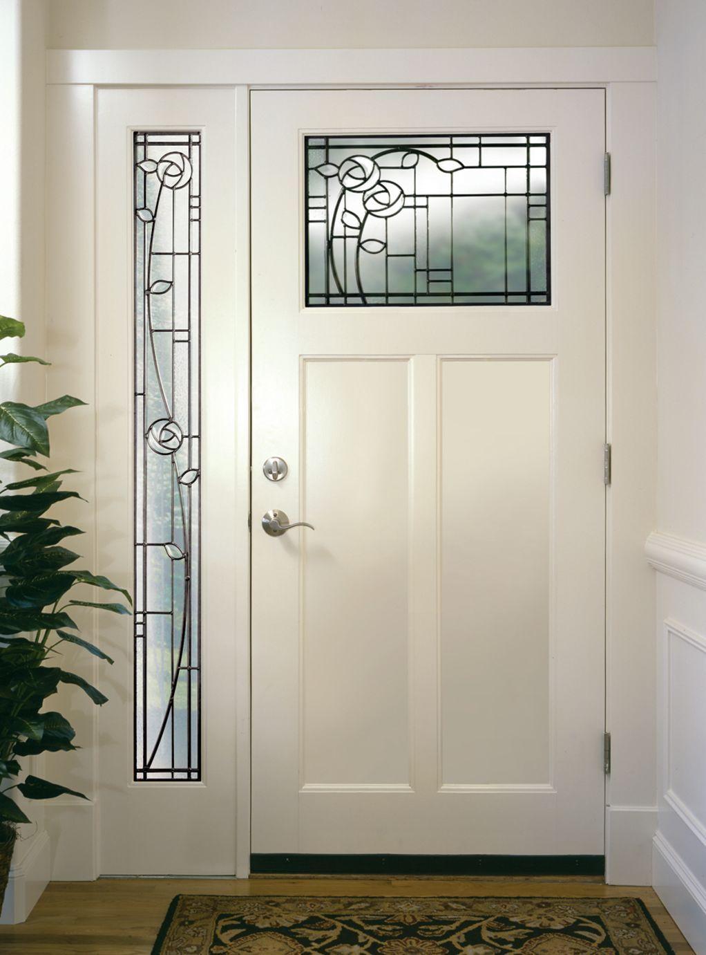 Windows Doors On The Inside Exterior Doors With Glass Craftsman Front Doors Stained Glass Door