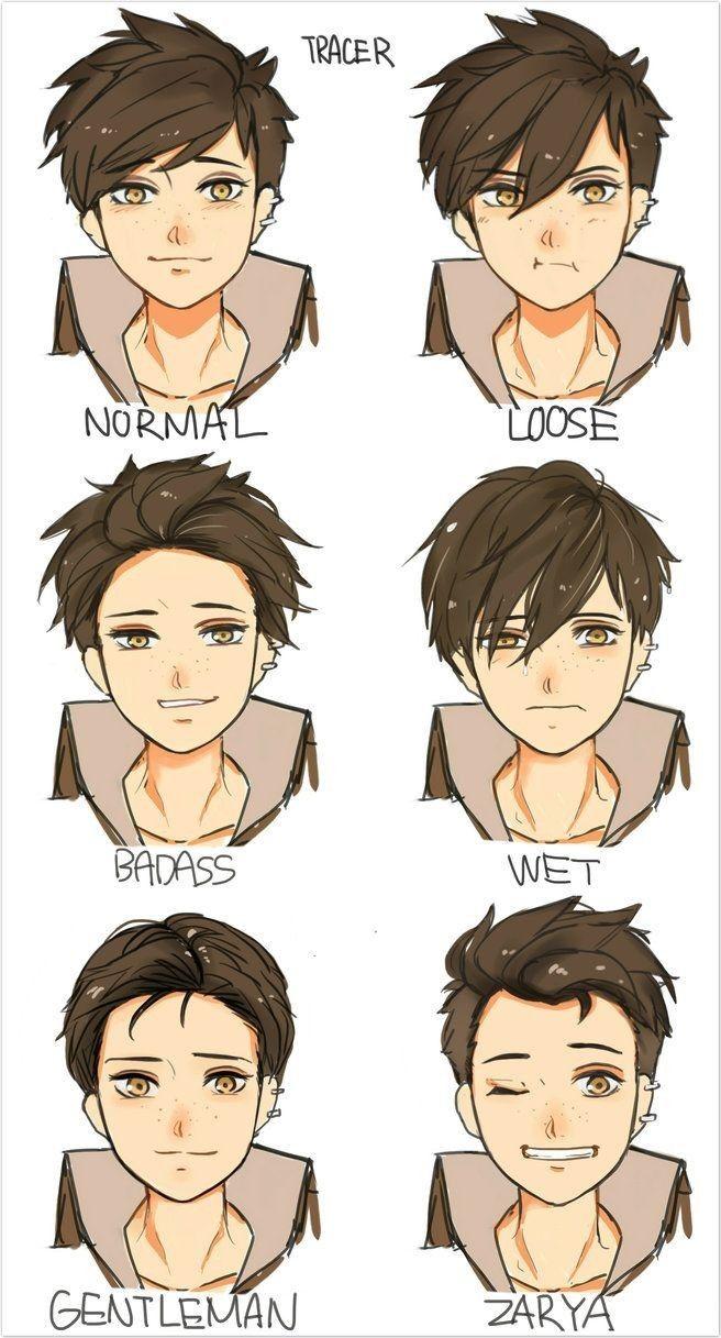 Perfecto peinados anime hombre Fotos de estilo de color de pelo - Pin de Darwindlg1718 en Illustration   Dibujos de peinados ...