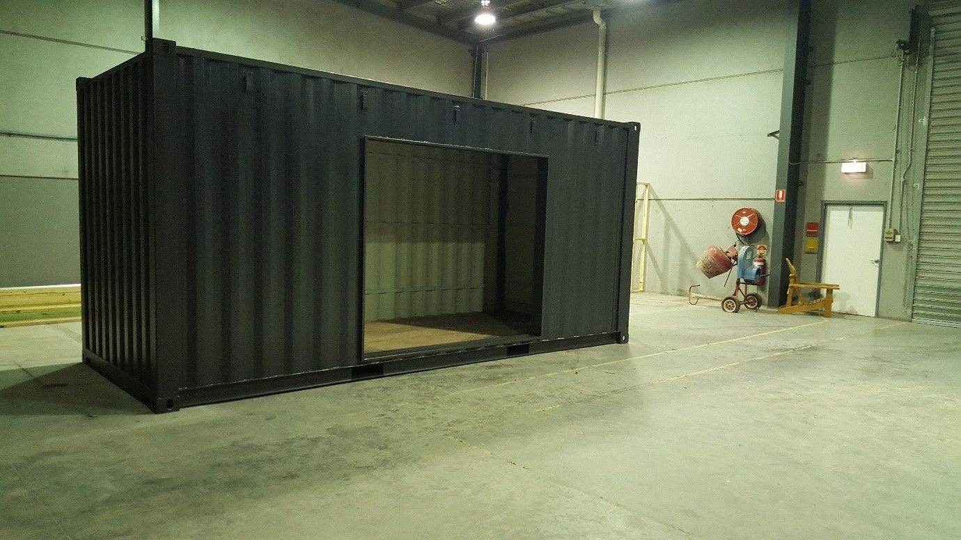 Modifications On A 20ft Shipping Container Ready For Fit Out Container House 20ft Shipping Container House