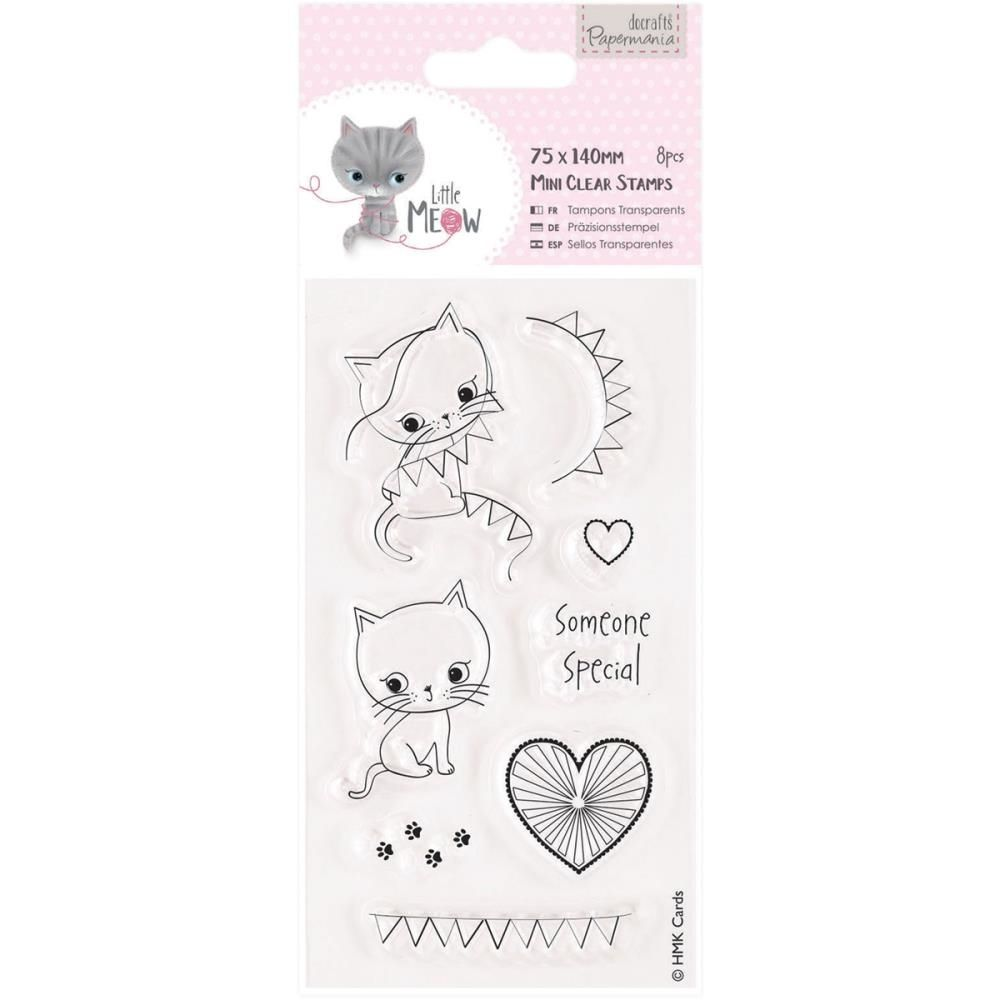 DoCrafts SOMEONE SPECIAL Little Meow Clear Stamps Papermania 907217 Zoom Image