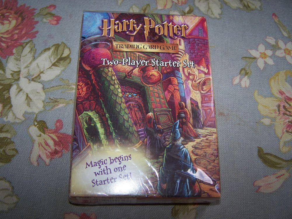 2001 harry potter two player starter set trading card game