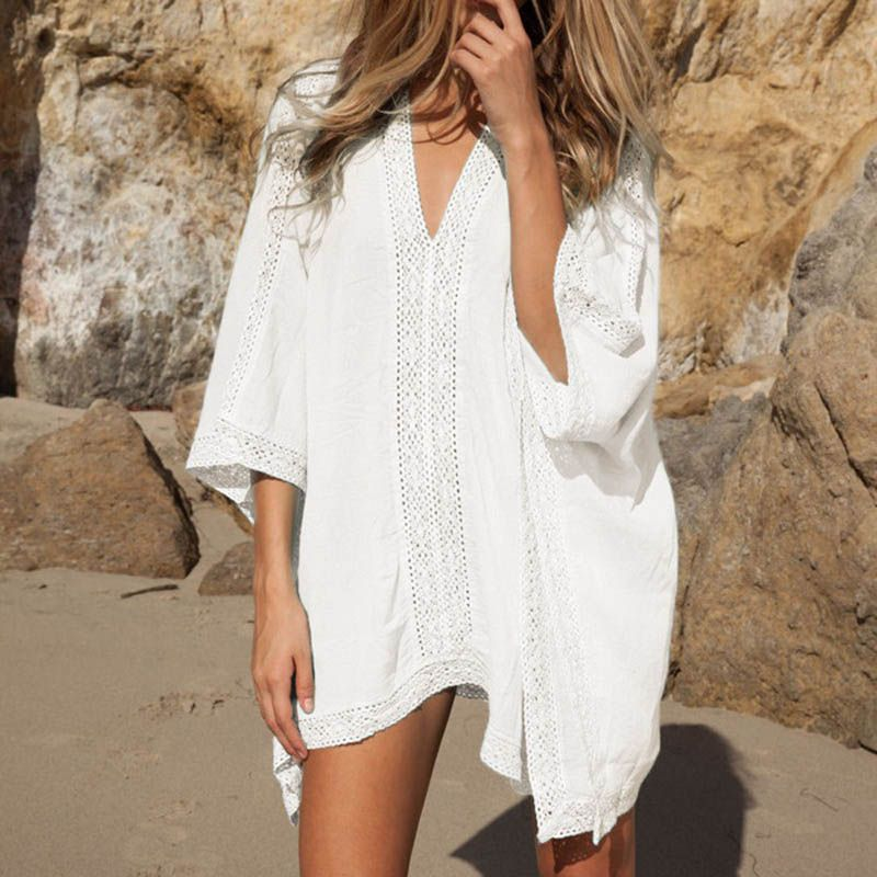 821685d140ca1 Beach V-Neck Cotton Women s Tunic Price  28.14   FREE Shipping  hashtag3