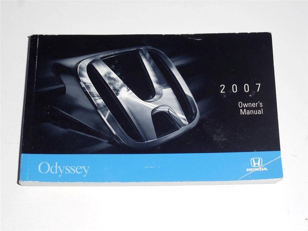 2007 honda odyssey owners manual book owners manuals pinterest rh pinterest com 2007 honda odyssey owner manual pdf 2007 honda odyssey owner's manual
