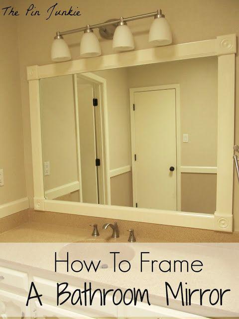 how to frame a bathroom mirror bathroom mirrors and frame bathroom mirrors. Black Bedroom Furniture Sets. Home Design Ideas