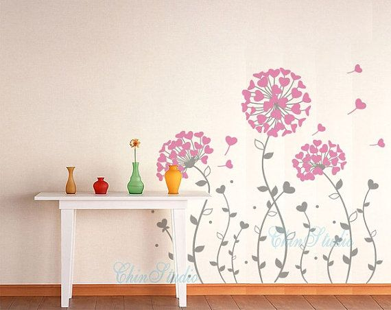 Floral Vinyl Wall Decals wall sticker kids wall by ChinStudio, $49.00