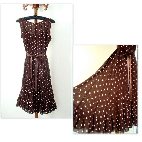 Pretty Woman Brown Polka Dot Dress Rodeo Drive by EventOutlet ...