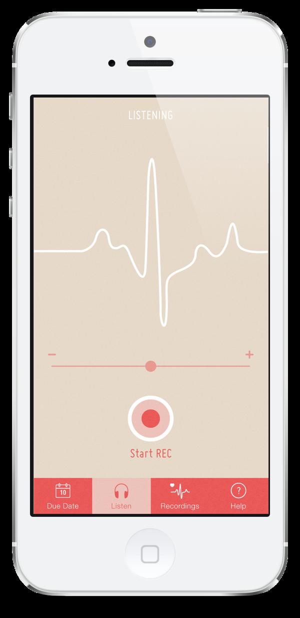 Fetal Heartbeat - iPhone App on Behance