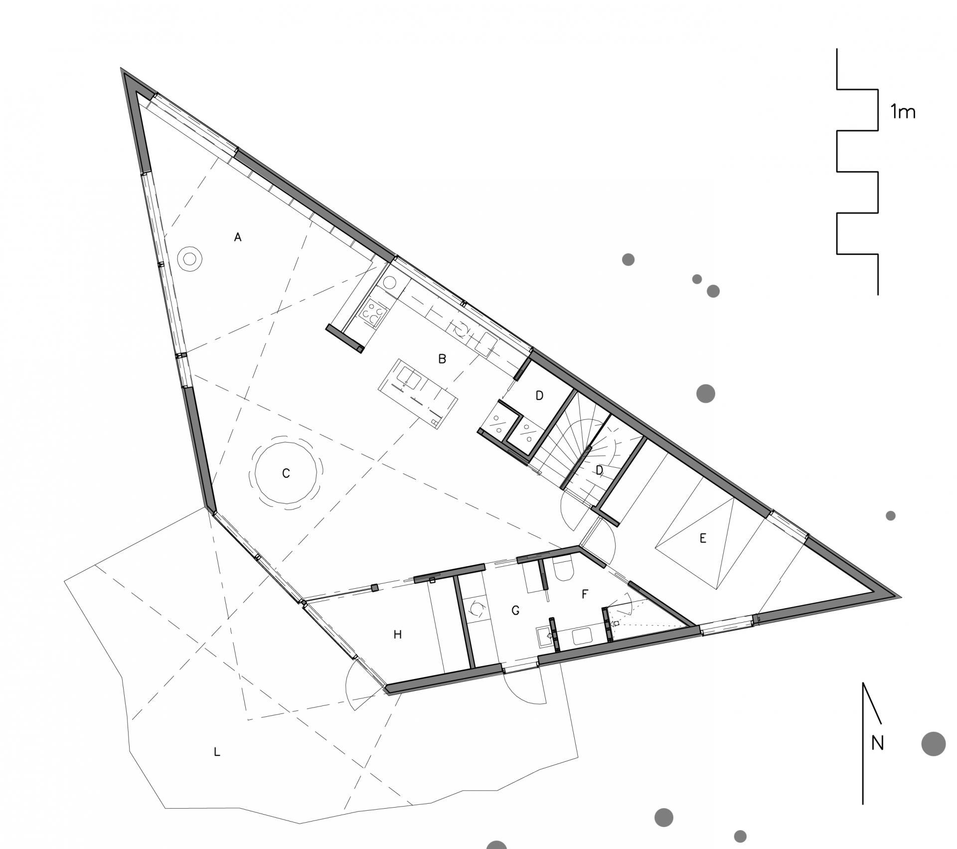 TRIANGLE HOUSE - L1 PLAN | ПЛАНЫ ДОМОВ | Pinterest | Triangle ...