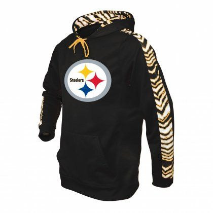 8dd79fc36 NFL Officially Licensed Pittsburgh Steelers Zebra Print Pullover Hoodie