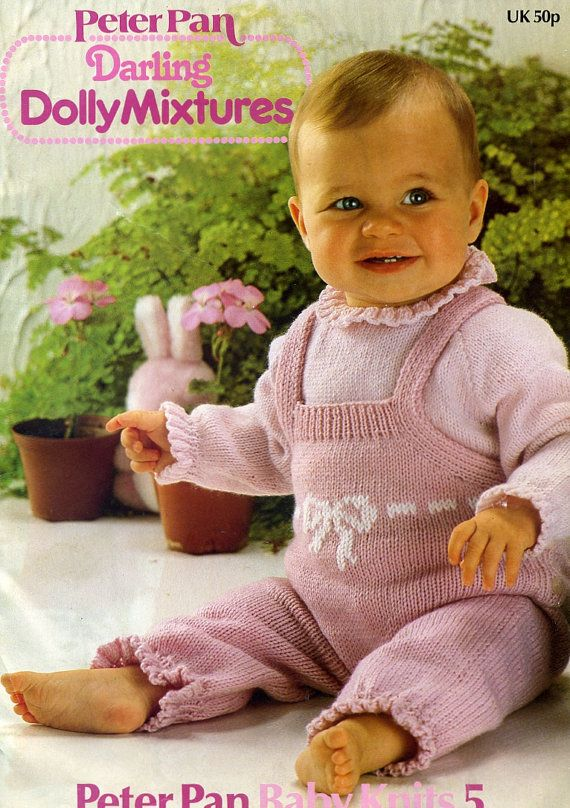 Vintage 1980s Peter Pan Baby Knits No 5 Pattern Book See Photo