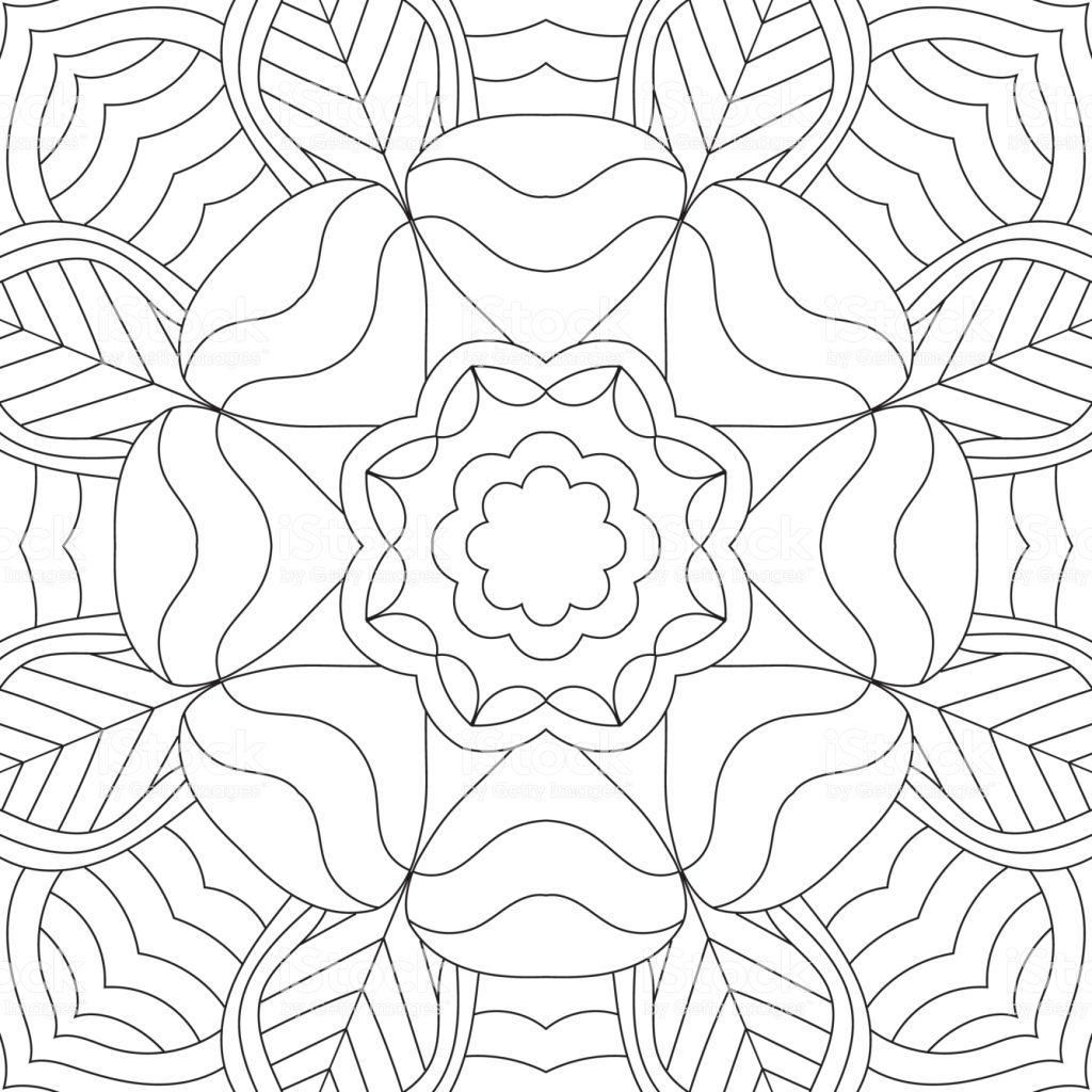 Rectangular Mandala Coloring Pages Pics