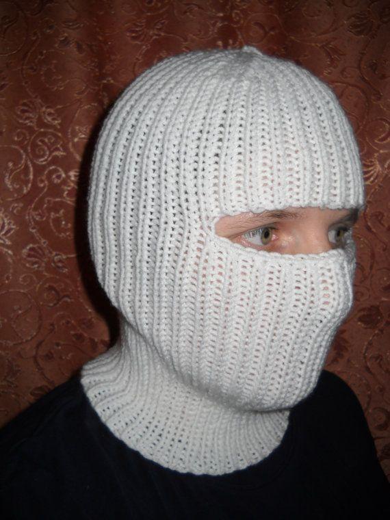 New handmade knit wool balaclava hat cap face mask | Pinterest ...