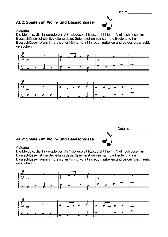 Violin Und Basschlussel Lesen Aufgabe Unterrichtsmaterial Im Fach Musik Noten Lesen Lesen Unterrichtsmaterial