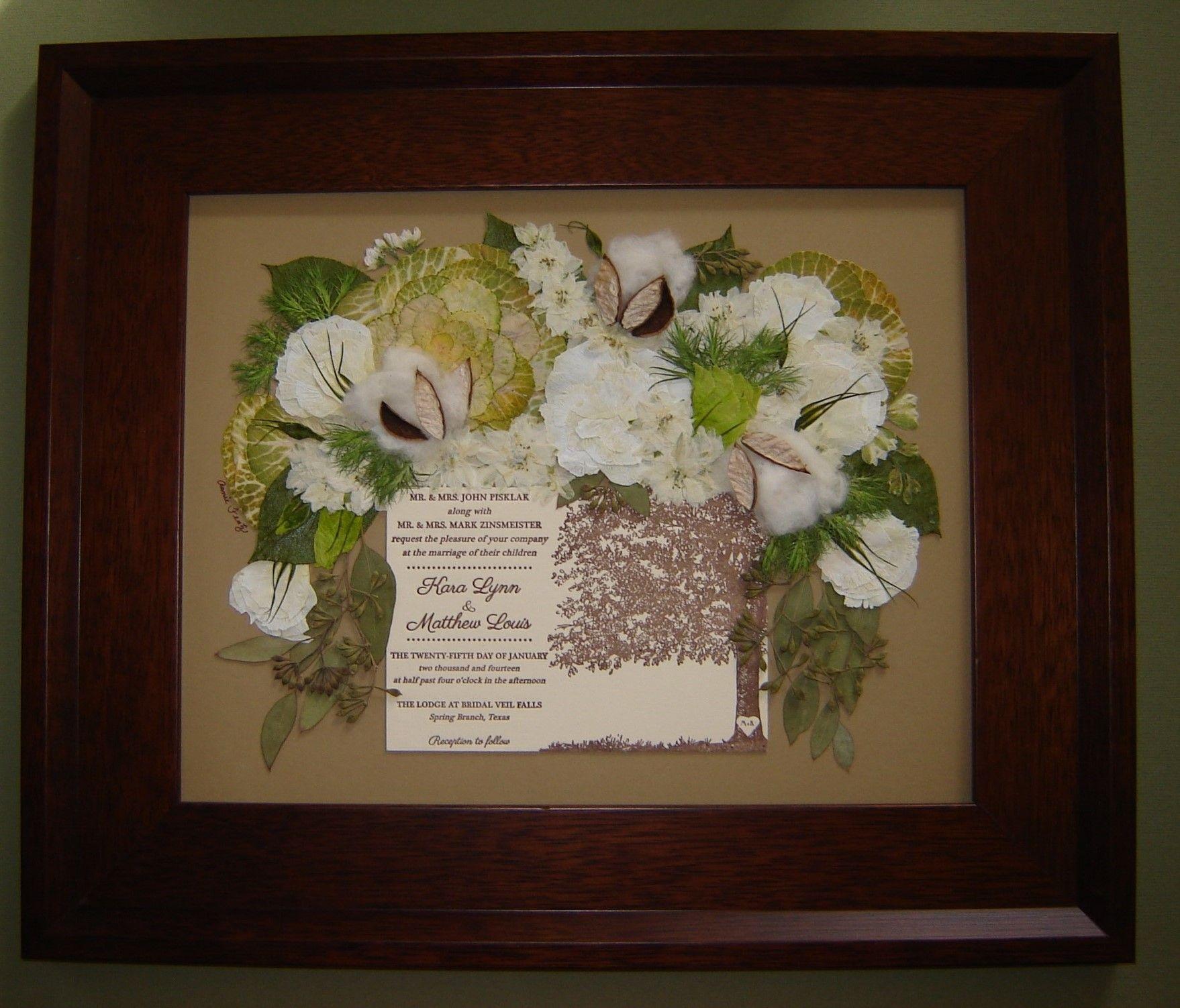 Pressed Flower Art Bridal Bouquet Preserved Around Wedding
