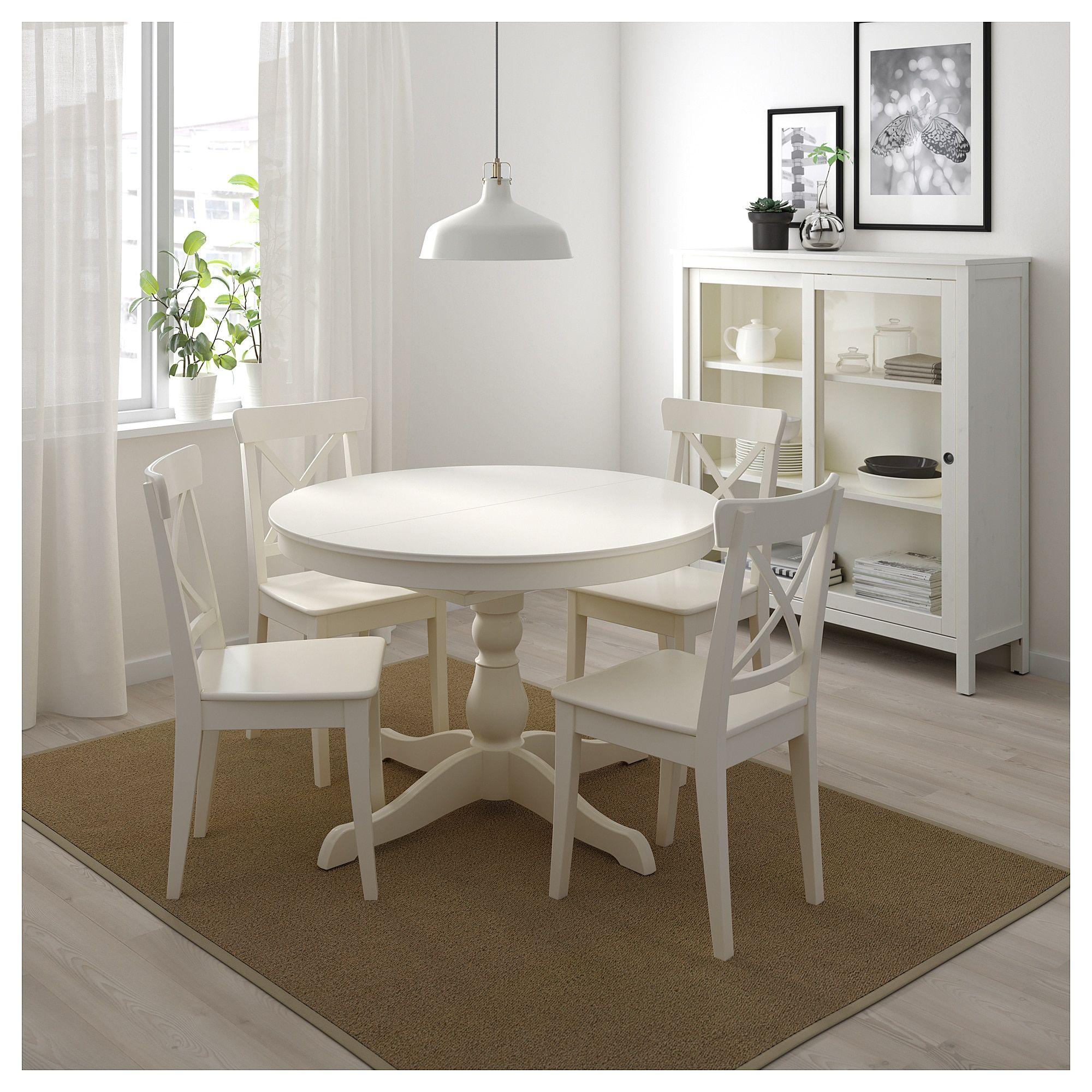 Ingatorp Extendable Table White 43 1 4 61 Malenkie Kuhonnye