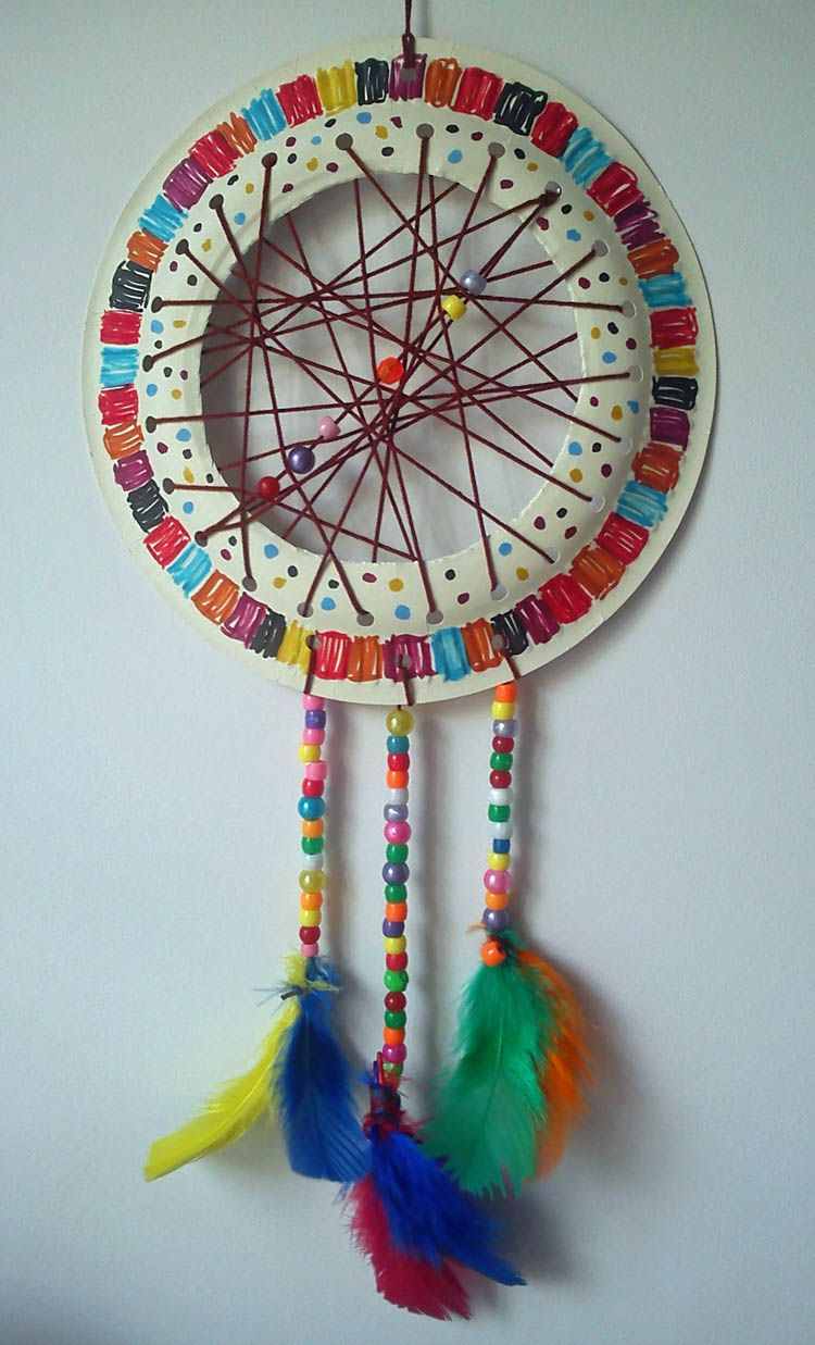 let's play Craft and Activities for All Ages!: Paper Plate Dream Catcher  Tutorial - Easy and fun to make!