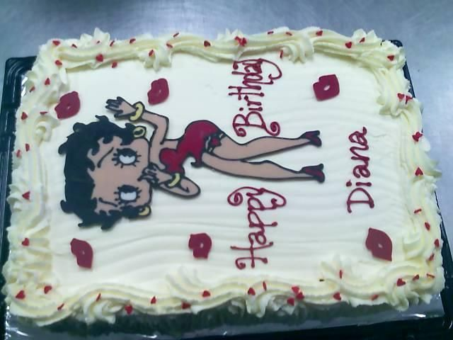 Birthday Cake Outline Printable ~ Betty boop cake template printable pokemon posters betty boop